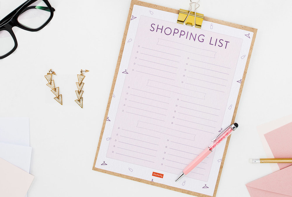 Click to download the printable shopping list PDF
