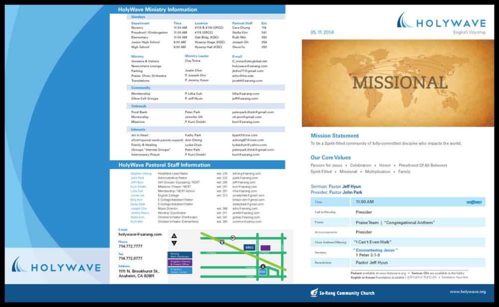 Copy of Sunday Bulletin Redesign