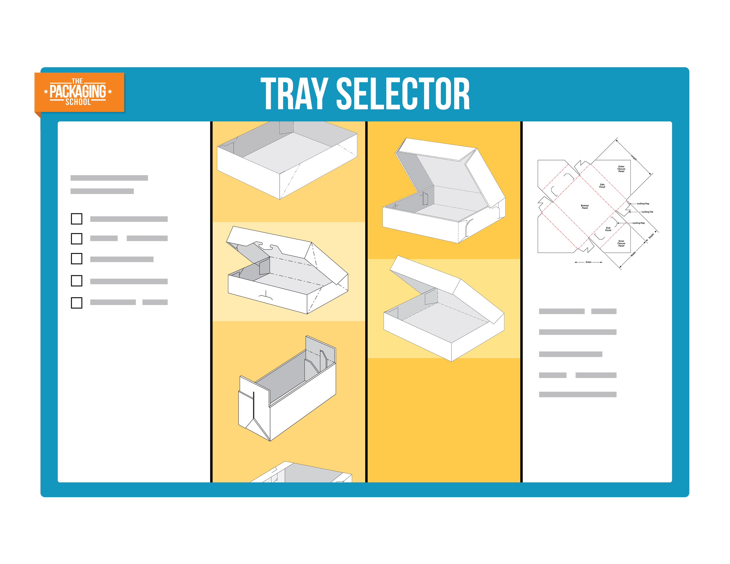 You can use our tube and tray selector apps to identify the best design for your application. We walk you through the process of selecting the attributes that make the most sense for your specific product and package needs.