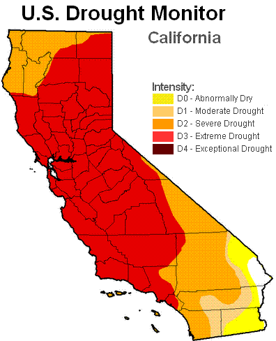 California Drought Facing Extreme Drought in Certain Areas
