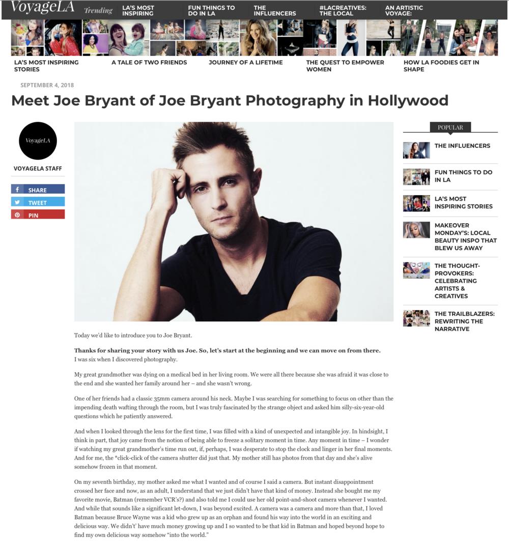 Joe Bryant Voyage LA Magazine