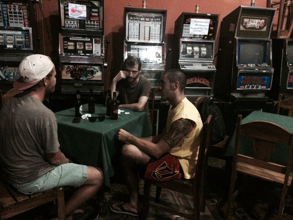 The boys at a Random bar in Rivas
