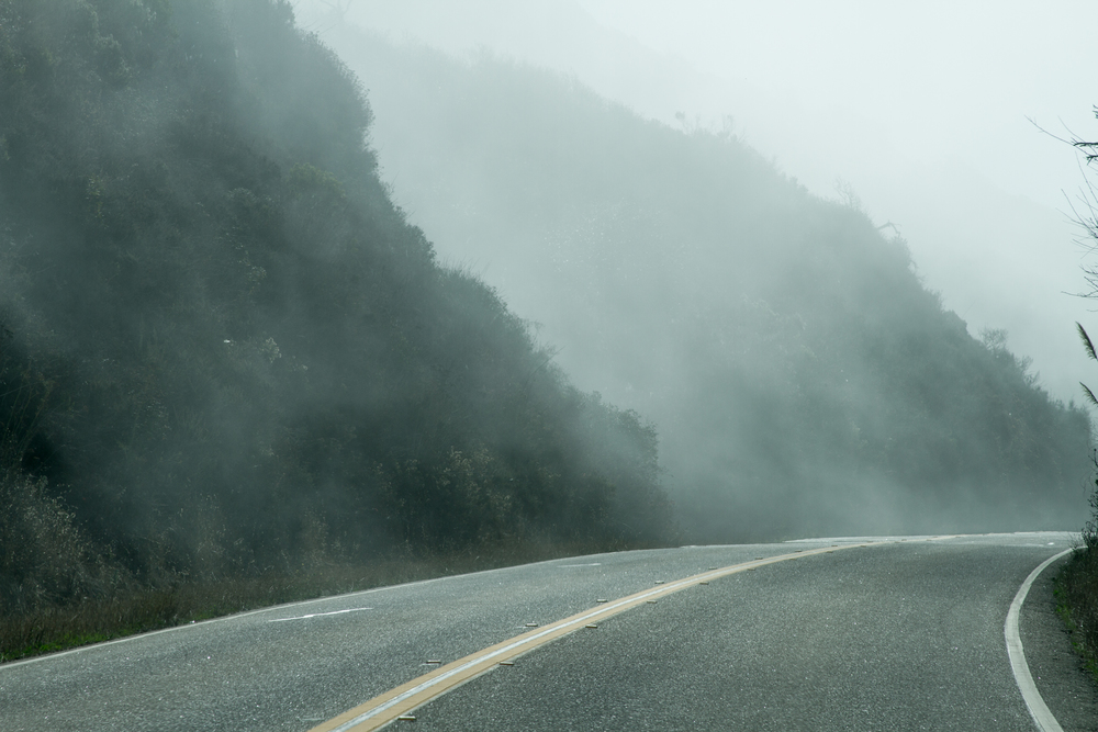 A Foggy Road (click image for full Photo Essay from the trip)