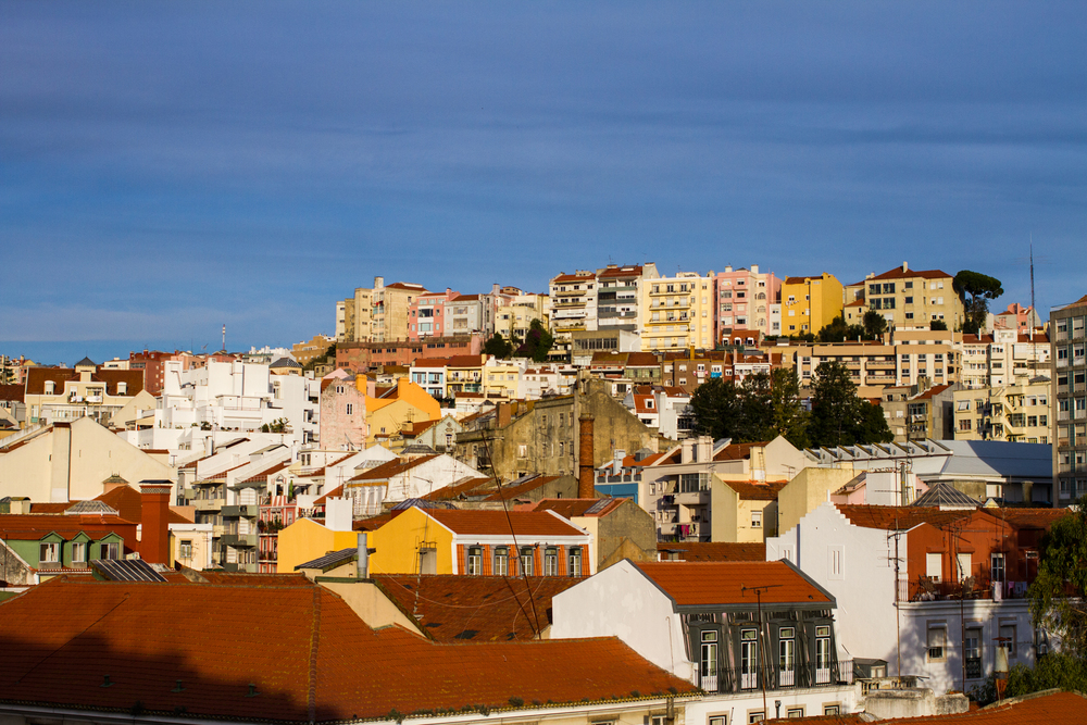 The view from the back patio. Lisboa, Portugal.