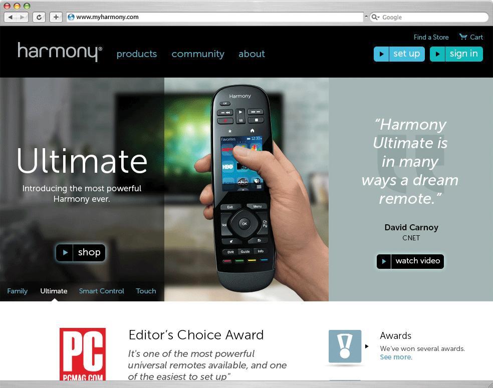 Harmony Remotes  ROLE: Designer