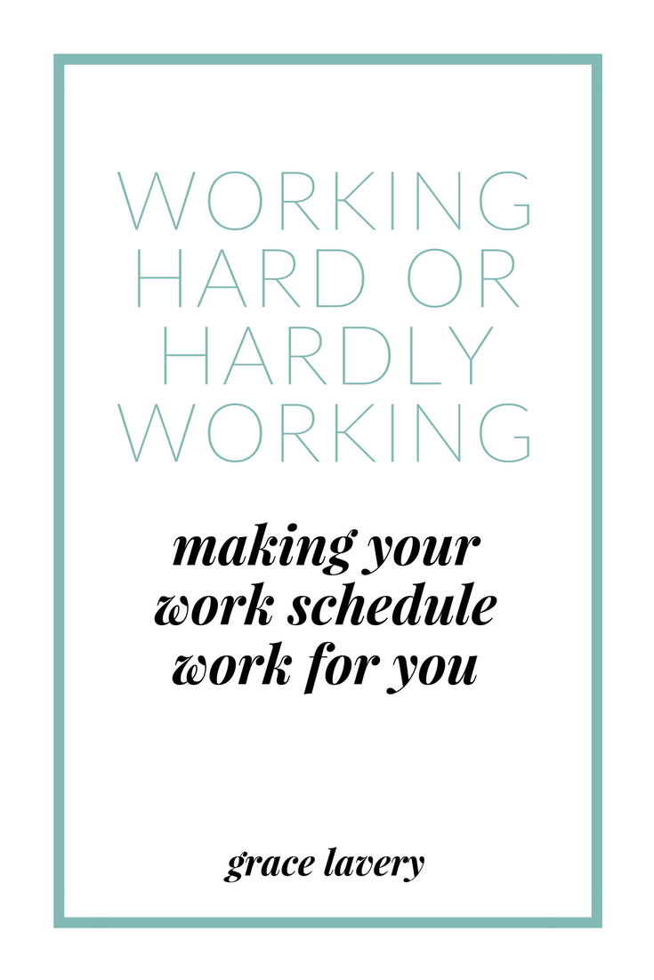 working hard or hardly working making your work schedule work for