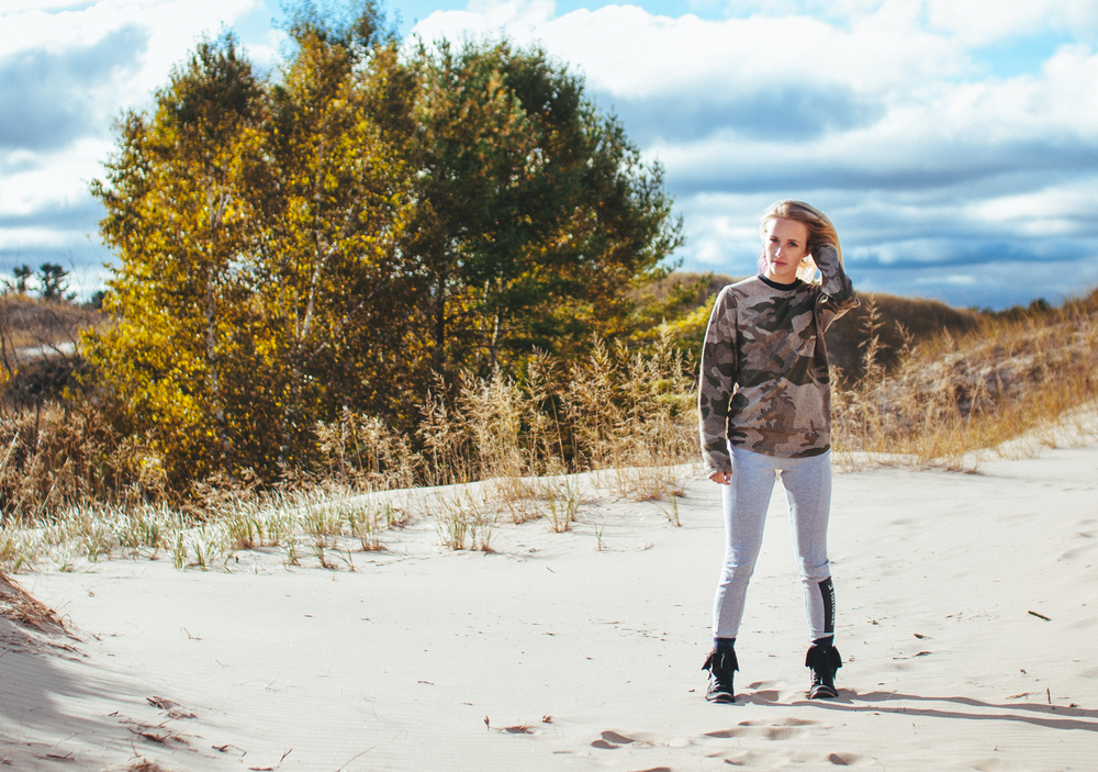 Celia Sweet at Kohler-Andrae State Park. Photo: Joe Horvath