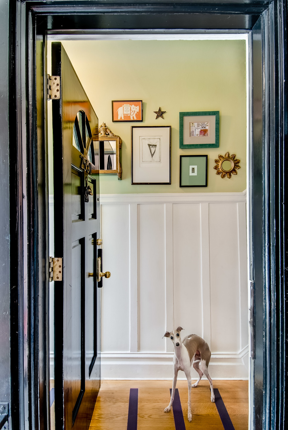 Edwardian Foyer, San Francisco, CA Photographed for Nesting Newbies Ezine and Northbrook Design.
