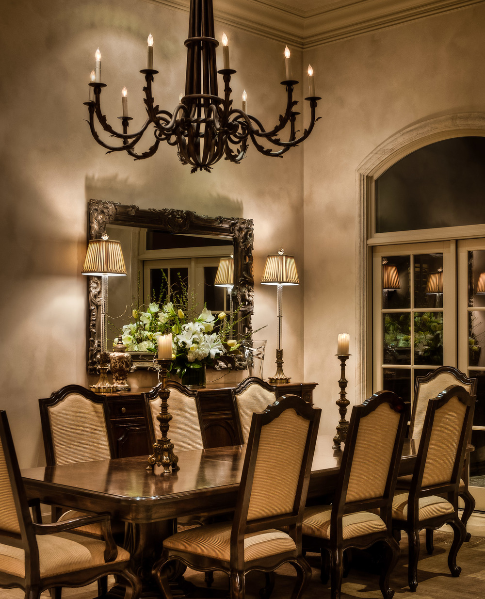Dinning Room, Los Altos Hills, CA Photographed for Dawn Williams Design