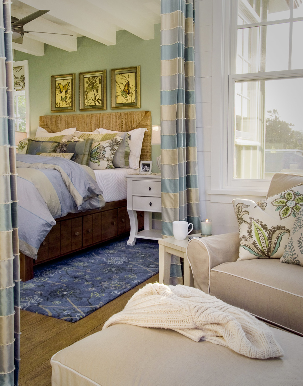 Master Bedroom, Santa Cruz, CA Photographed for Viscusi Elson Interior Design 2009 ASID Gold Award Winner