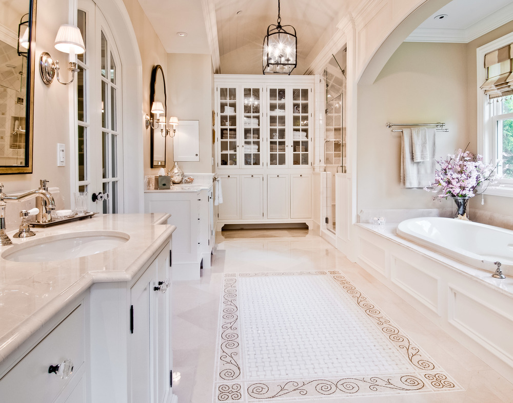 Luxury Bathroom, Los Altos, CA Photographed for Viscusi Elson Interior Design and Rutt Handcrafted Cabinetry