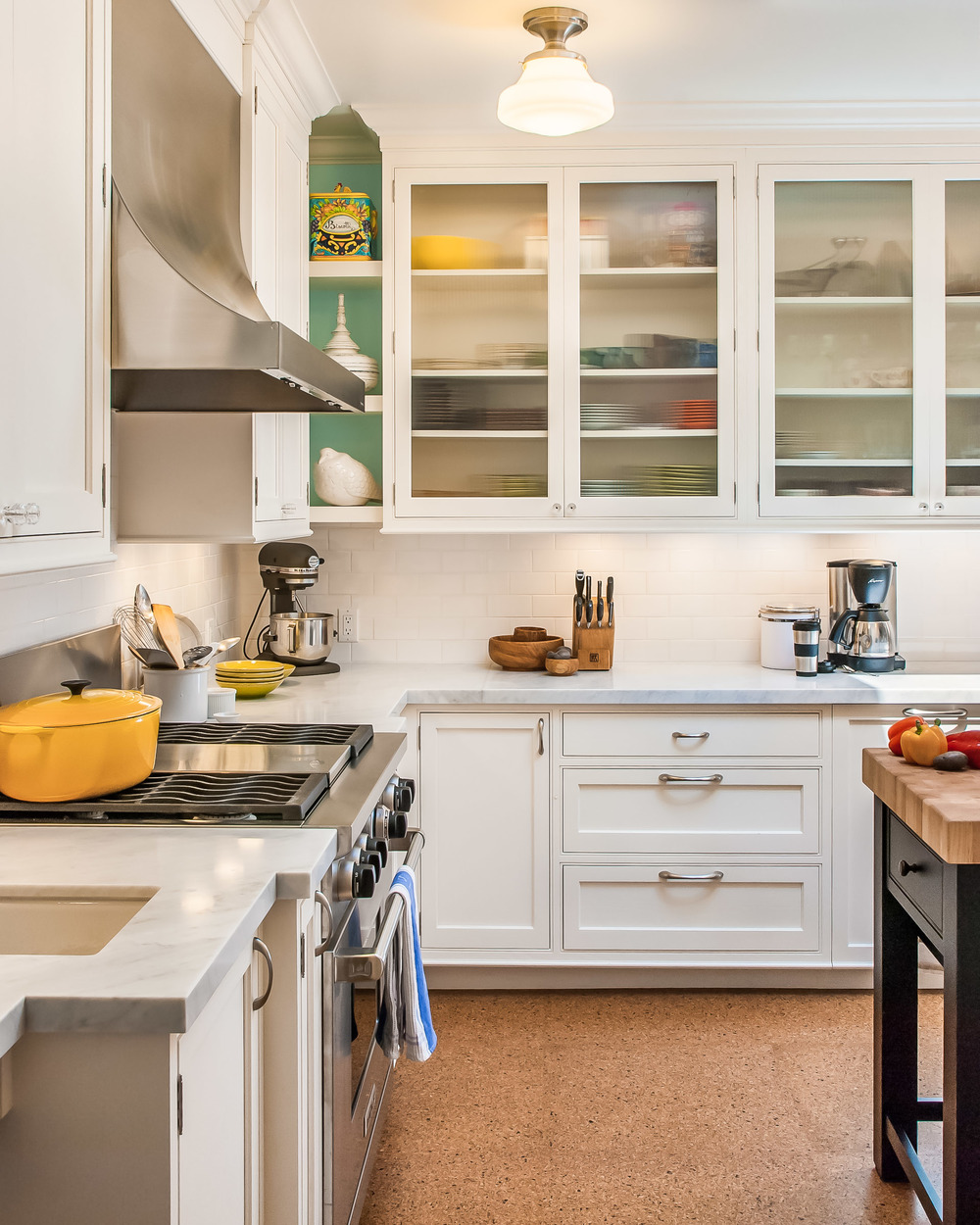 White Transitional Kitchen, San Francisco, CA Photographed for Rutt of Los Altos