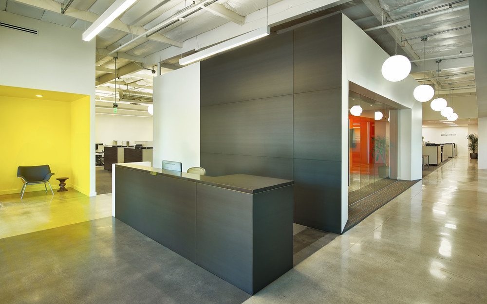MWest | Unpopulated Reception Area, Conference Room and Corridor | Studio G Architects