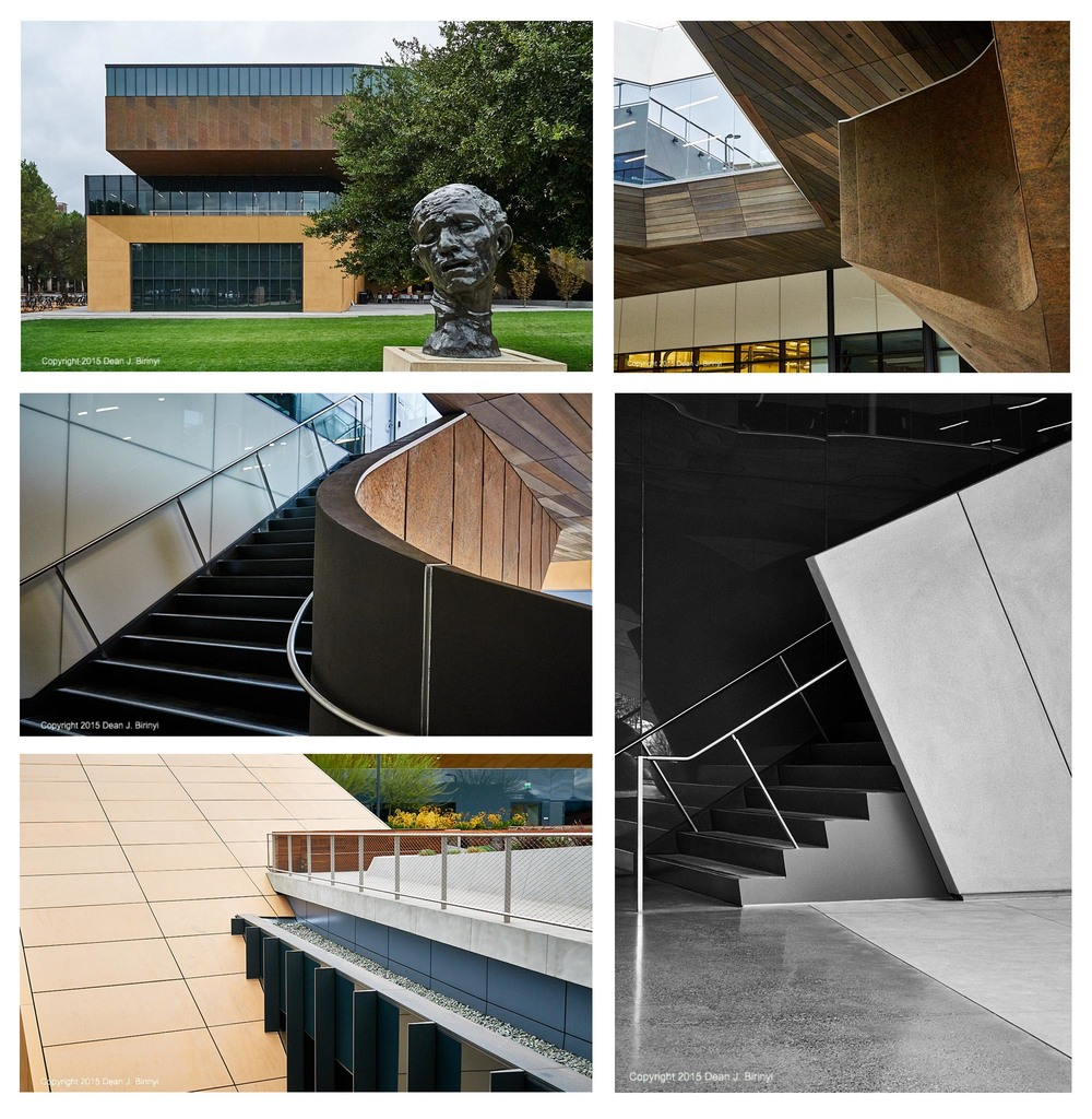 Selected views of the McMurtry Building at Stanford University, Arts and Art History Buildings