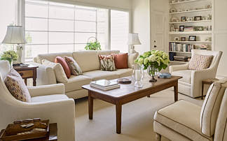 Elegant North Beach living room by Dean Birinyi, interior photographer in San Francisco, CA