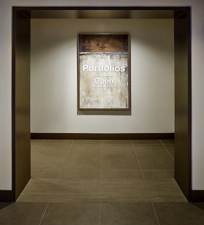 Portal to Art Gallery.  Photograph by Dean Birinyi, interior photographer in San Francisco, CA.