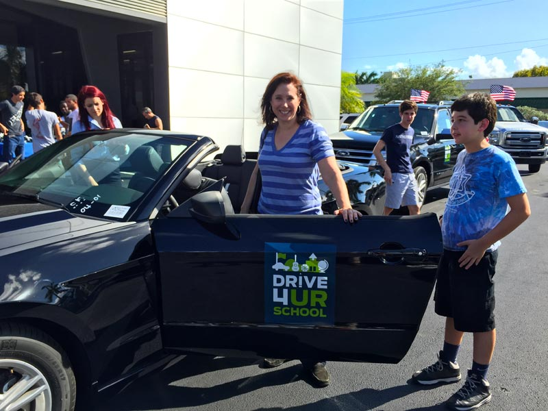 Susan Rolnick is one of the hundreds of parents who did their part with a test-drive
