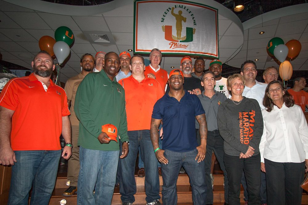 Just some of the former Canes elite alums who attended the event
