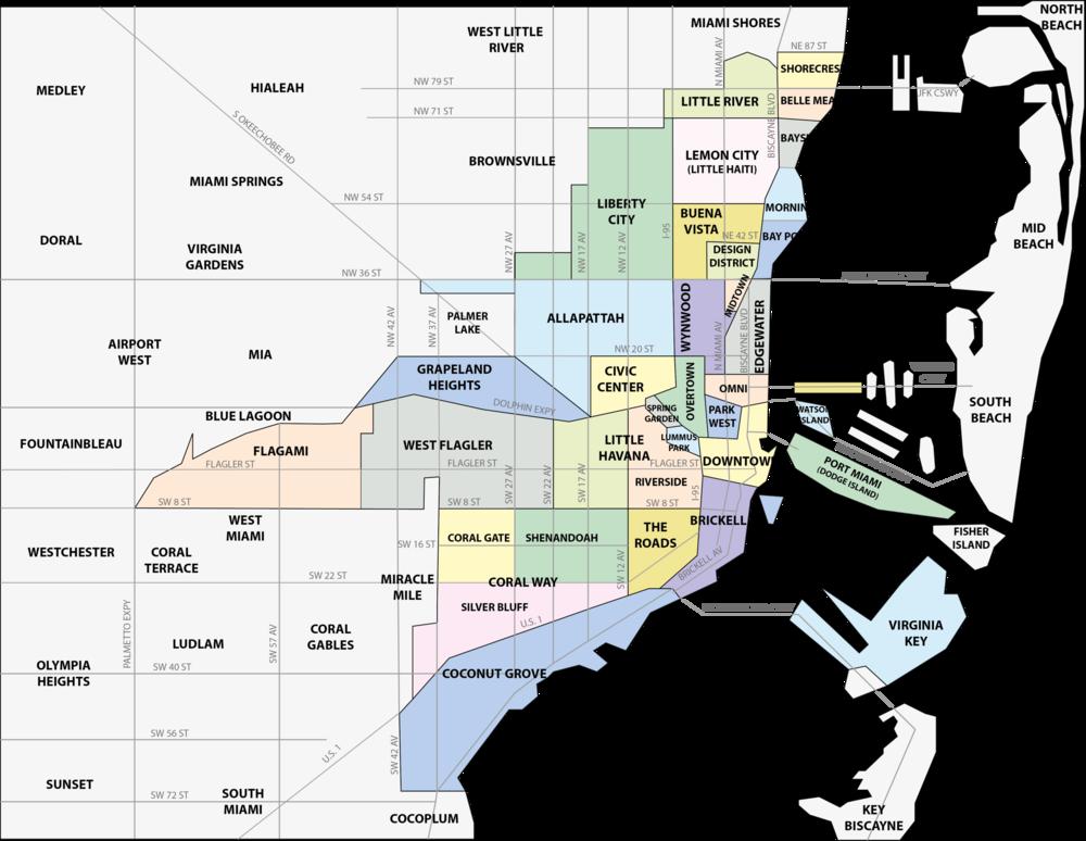 Miami Neighborhood Map Miami Neighborhood Map — MiamiHal Real Estate Miami Neighborhood Map