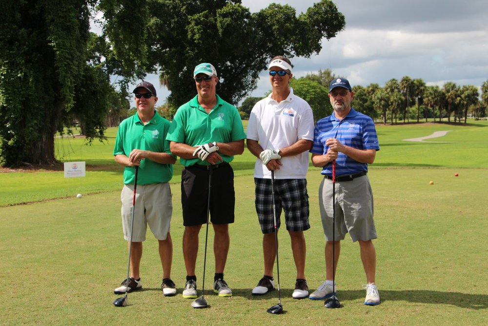 David Greenwell, third from left in the 2015 tournament
