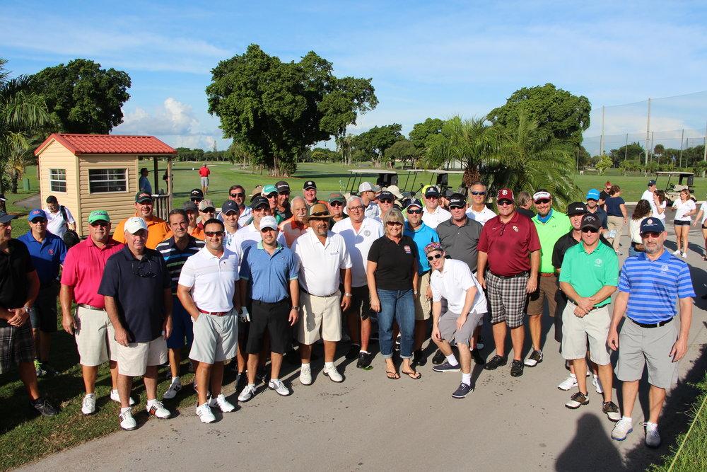 "The whole gang at the 2015 ""Fallen Not Forgotten"" Golf Tournament"