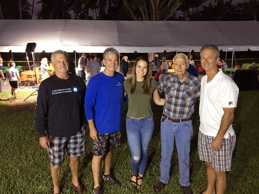 [L to R] Joe, Jeff, Sammie, Joe Sr. and David Greenwell – a true Mangowood family