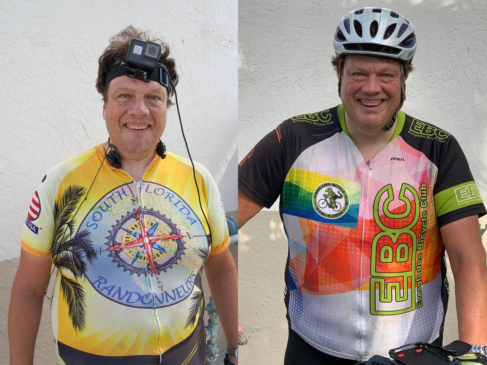 Before and after completing the triathlon