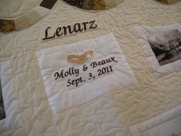 CUSTOM PHOTOS DOUBLE WEDDING RING QUILT
