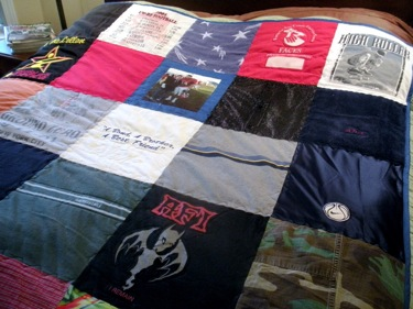 CUSTOM T-SHIRT LARGE BLOCK QUILT