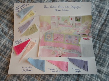 SAMPLE CUSTOM QUILT CARD WITH SAMPLE FABRICS  $25 EACH