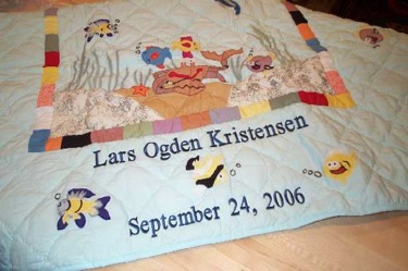 PERSONALIZED OCEAN FRIENDS QUILT