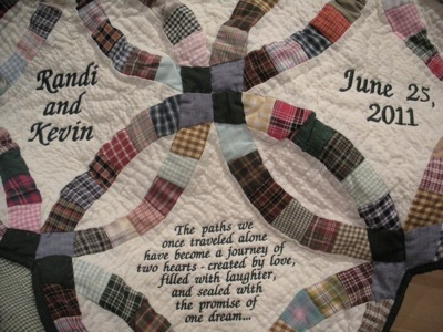 COUNTRY DOUBLE WEDDING RING QUILT