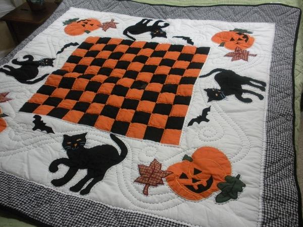 Halloween Pumpkin Lap Quilt