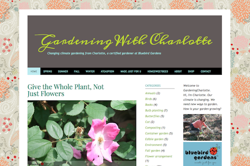 Changing climate gardening with Charlotte, a certified gardener at Bluebird Gardens