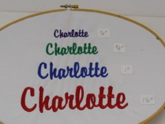 EMBROIDERY FONT SIZE EXAMPLES