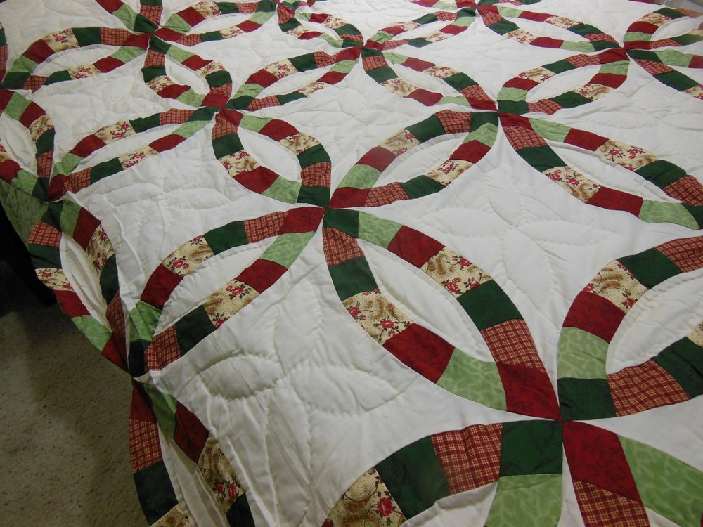 Sale Twin Quilt In A Box Double Wedding Ring Pre Cut Quilt