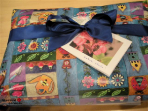 SAMPLE PERSONALIZED ITEM GIFT-WRAPPED WITH PERSONALIZED CARD
