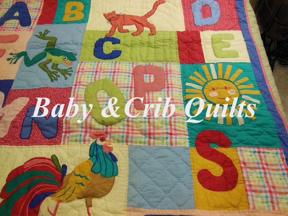 Bluebird Gardens Welcome ABC Baby Quilt.