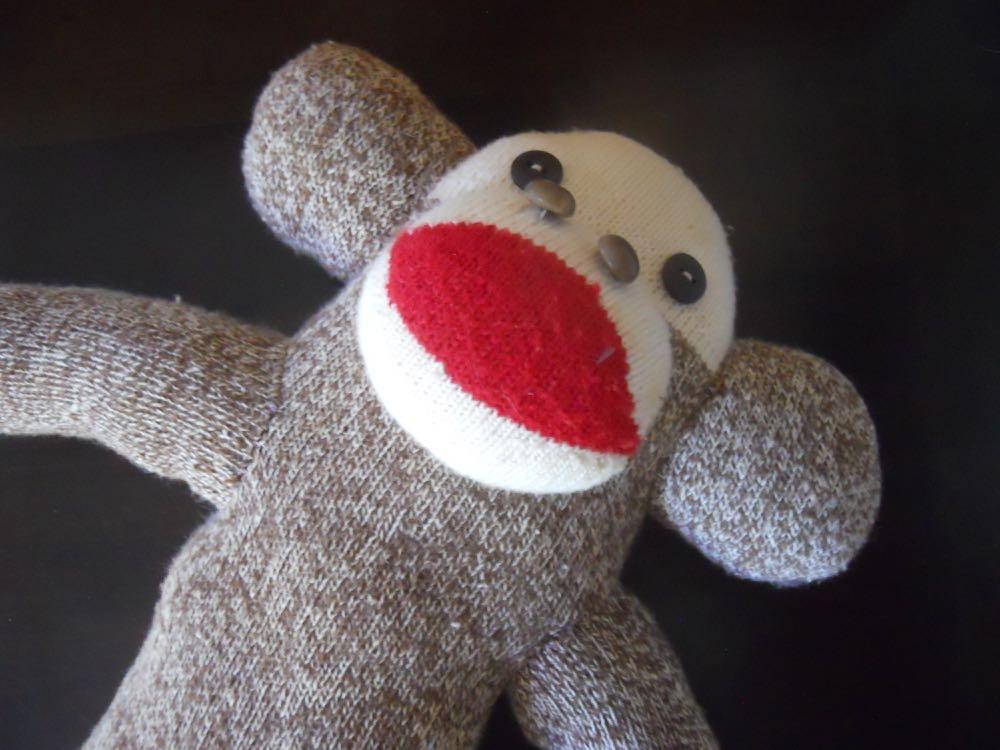 Vintage Rockford Red Heel Sock Monkey