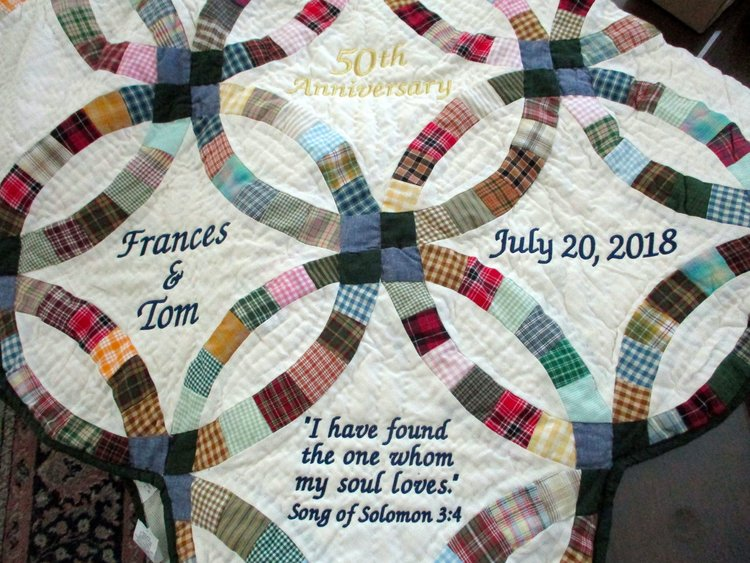 Double Wedding Ring Quilt.Sky Blue Double Wedding Ring Throw