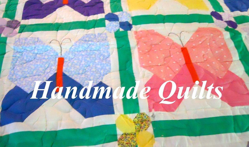 Made in Missouri, USA Butterfly Garden quilt.