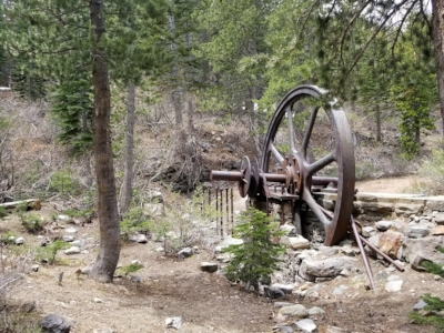 Mammoth Lakes: Mill City stamp mill.