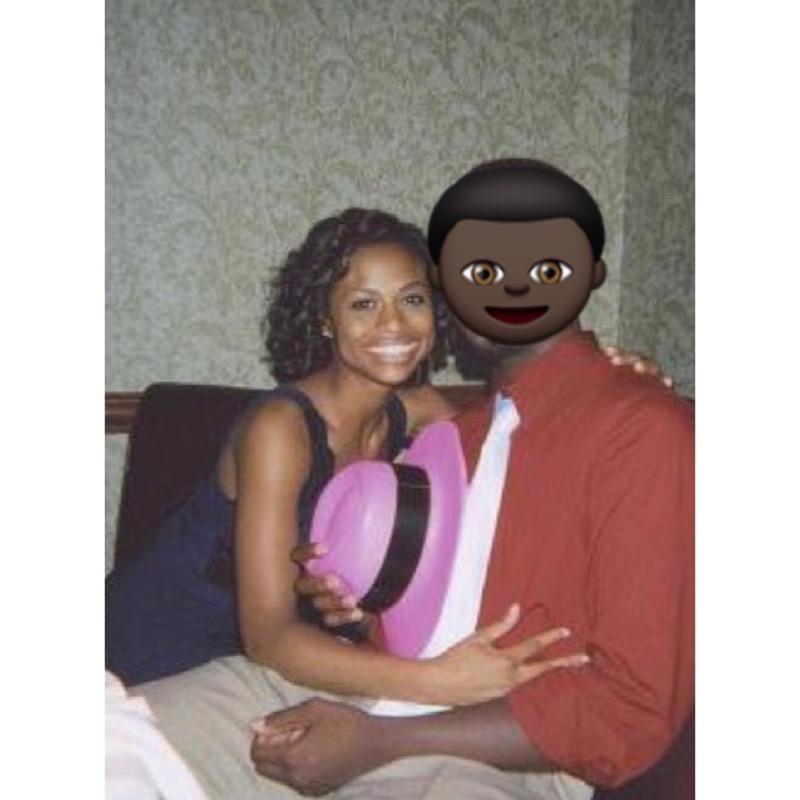 My high school boyfriend & me at a sweet 16 birthday party