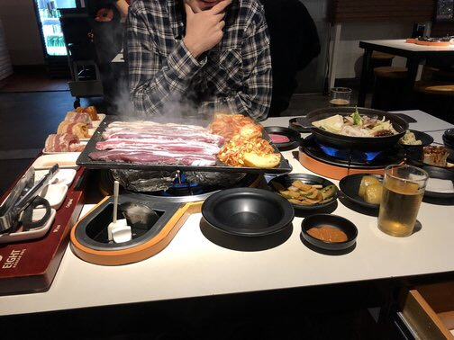 Our Korean BBQ date