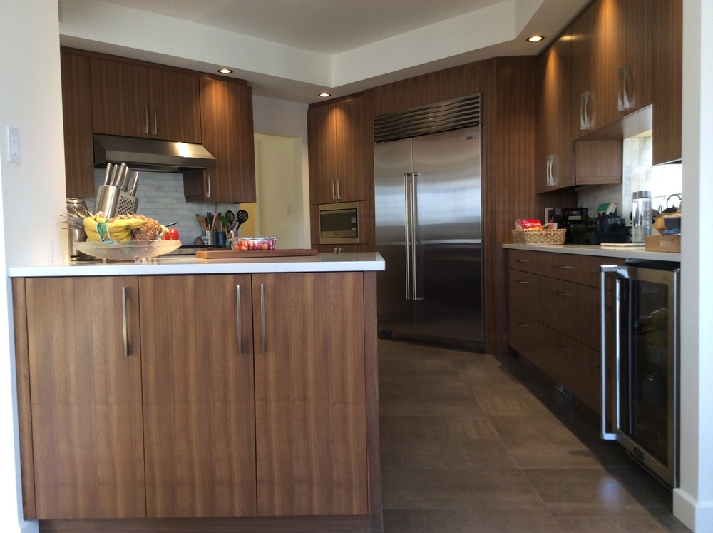 Custom walnut cabinetry NDI Millwork.