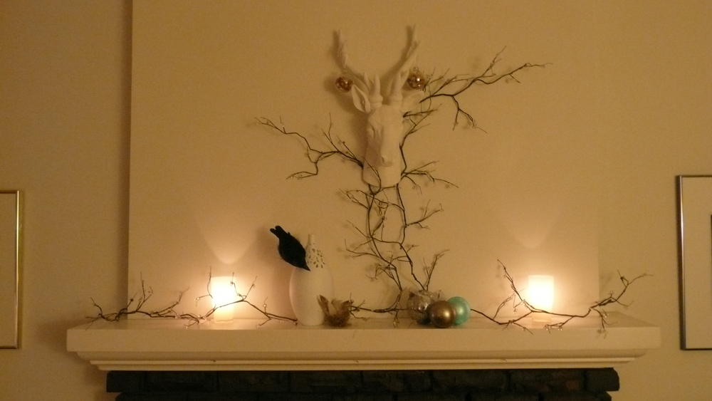 Mantel decor.