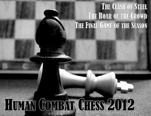 Human Combat Chess 2012, Postcard