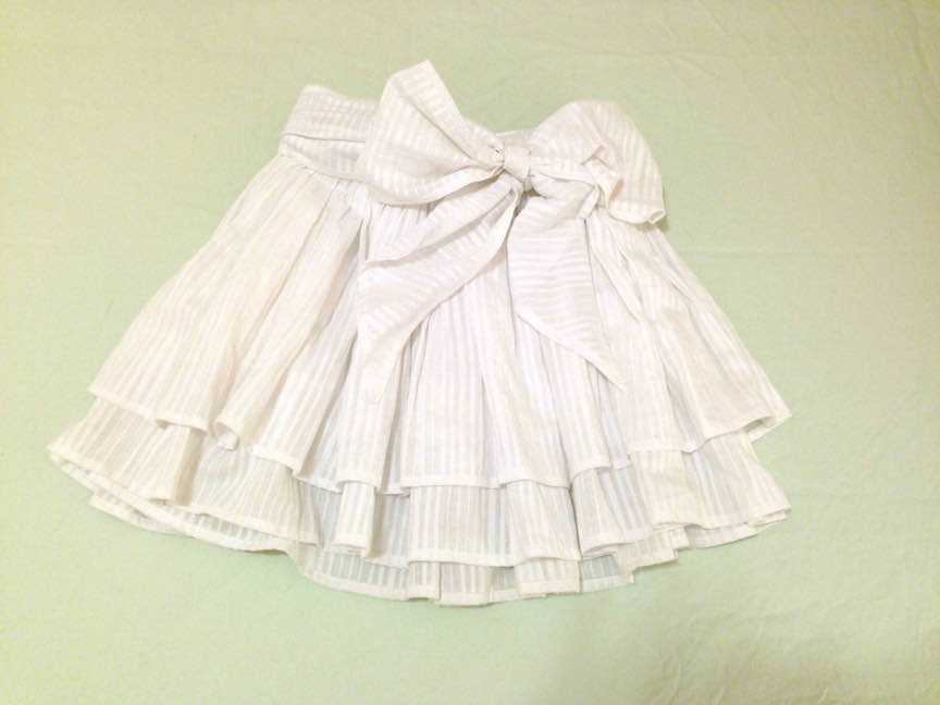 White Ruffled Skirt