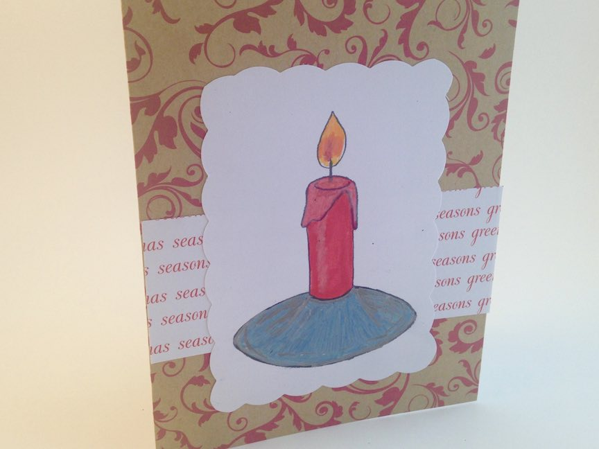 "Candle ""Coloring Book"" Christmas Card"