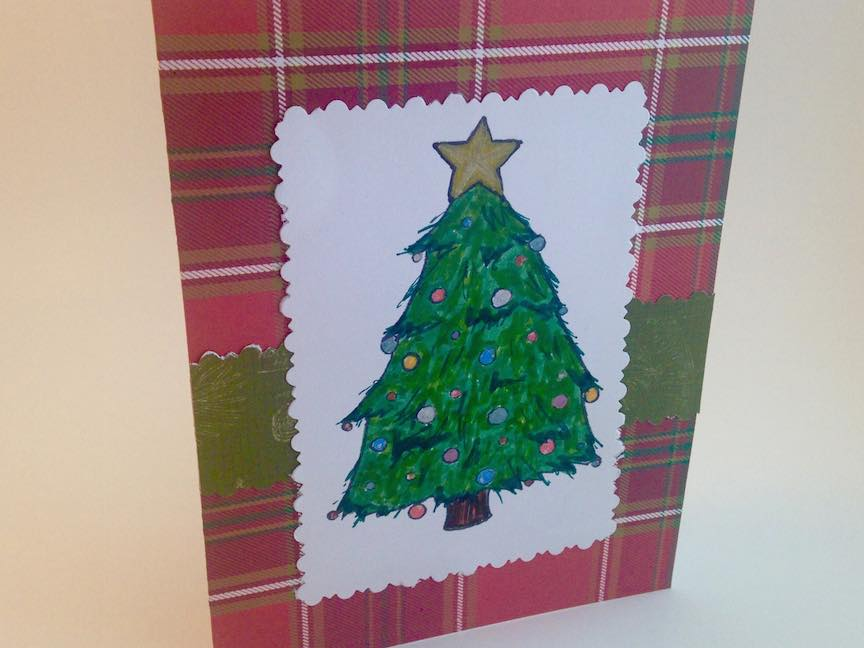 "Christmas Tree ""Coloring Book"" Card"